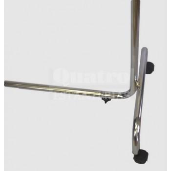 Perchero recto 1,40 cmt  regulable en altura y extensible a los lados cromado.