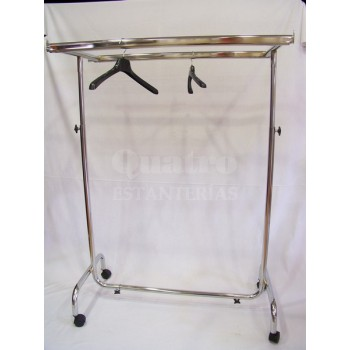 Perchero doble barra paralela cromo regulable en altura y extensible en sus cuatro lados.