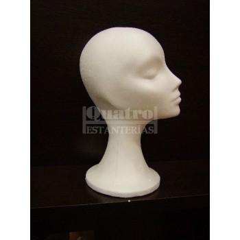Cabeza corcho mujer blanca cuello estilizado .