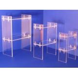 Expositor de metacrilato transparente dos estantes en alturas para pendiente, collar, pulseras,calzado etc.